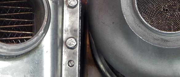 Dieselpartikelfilter für einen Linde Stapler mit VW-Motor