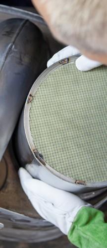 Anpassung Filterkern an das Gehäuse eines alten Katalysators