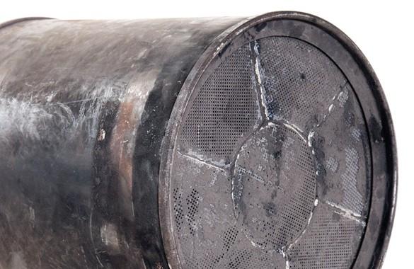 Dieselpartikelfilter verdreckt - vorher