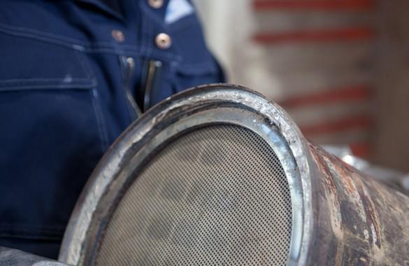 Verrusster Dieselpartikelfilter