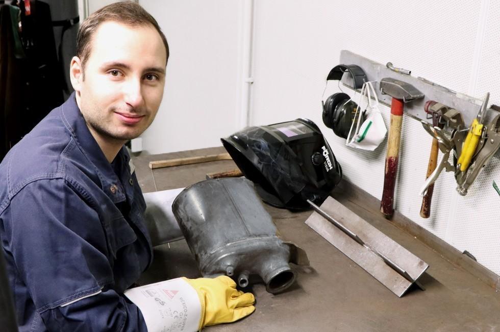 Nils Pape - Werkstattmitarbeiter für Schweißtechnik