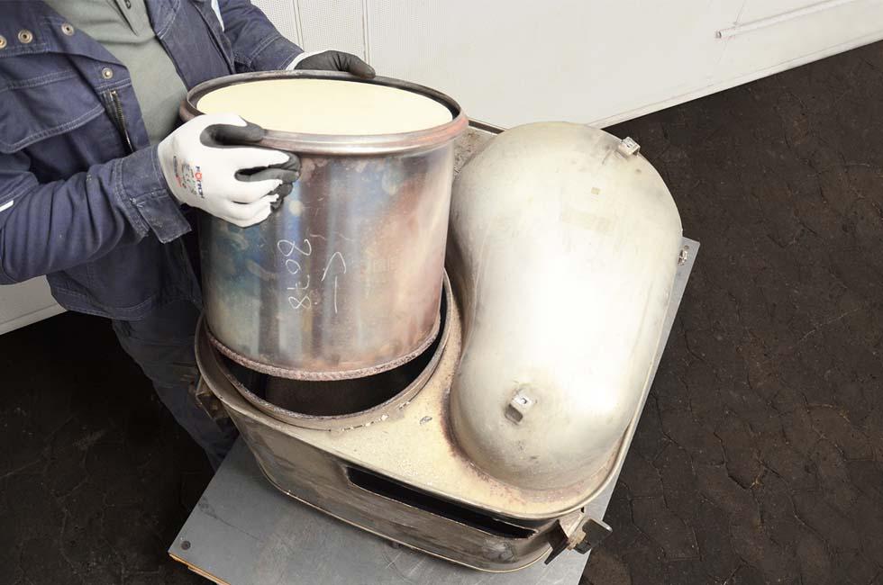 Reinigung DPF und Katalysatorbox